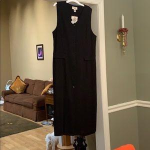 Talbots petite 14 black dress